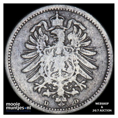 20 pfennig - Germany 1873 D (KM 5) (kant B)