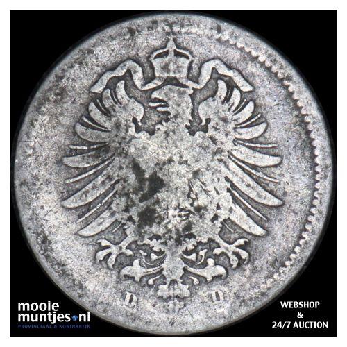 20 pfennig - Germany 1874 D (KM 5) (kant B)
