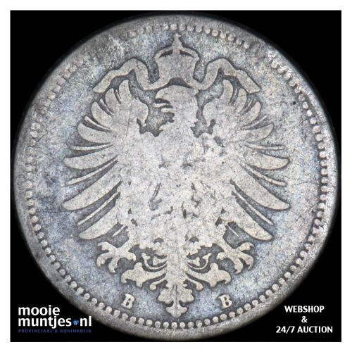 20 pfennig - Germany 1875 B (KM 5) (kant B)