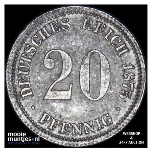 20 pfennig - Germany 1875 D (KM 5) (kant A)
