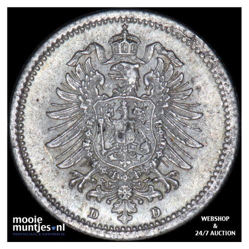 20 pfennig - Germany 1875 D (KM 5) (kant B)