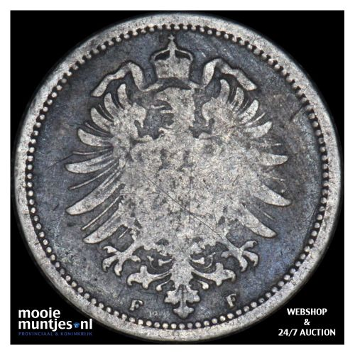 20 pfennig - Germany 1875 F (KM 5) (kant B)