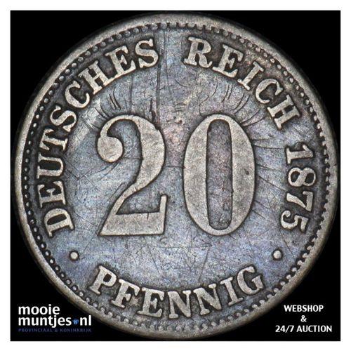 20 pfennig - Germany 1875 A (KM 5) (kant A)