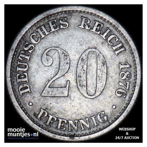 20 pfennig - Germany 1876 D (KM 5) (kant A)
