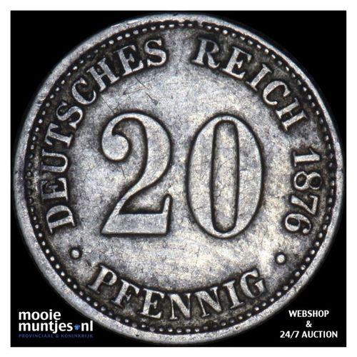 20 pfennig - Germany 1876 B (KM 5) (kant A)