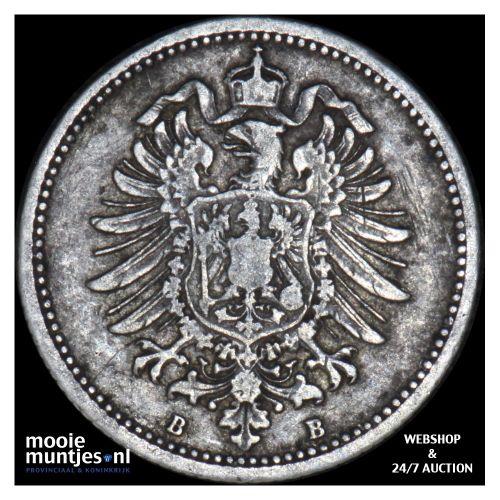 20 pfennig - Germany 1876 B (KM 5) (kant B)
