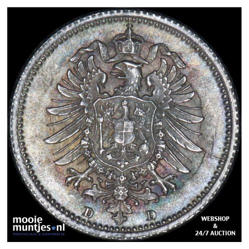 20 pfennig - Germany 1876 D (KM 5) (kant B)