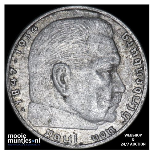 2 reichsmark - Germany-Third Reich 1938 A (KM 93) (kant B)