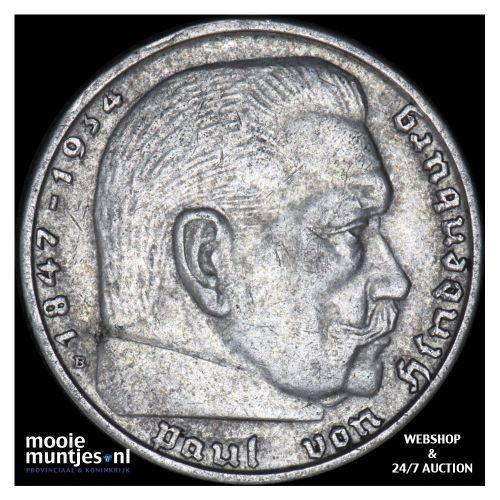 2 reichsmark - Germany-Third Reich 1938 B (KM 93) (kant B)