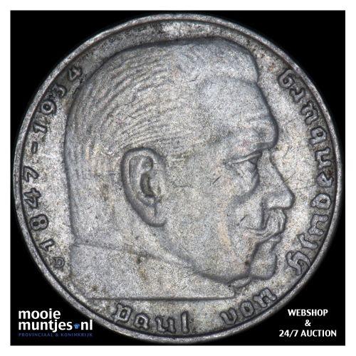 2 reichsmark - Germany-Third Reich 1939 D (KM 93) (kant B)