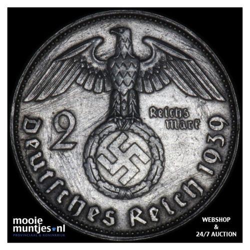 2 reichsmark - Germany-Third Reich 1939 J (KM 93) (kant A)