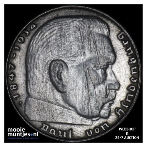 2 reichsmark - Germany-Third Reich 1939 J (KM 93) (kant B)