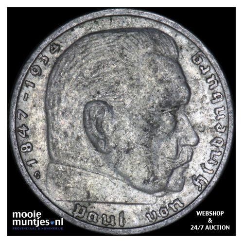 2 reichsmark - Germany-Third Reich 1938 G (KM 93) (kant B)