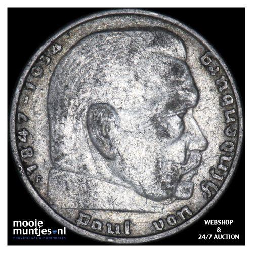 2 reichsmark - Germany-Third Reich 1937 F (KM 93) (kant B)