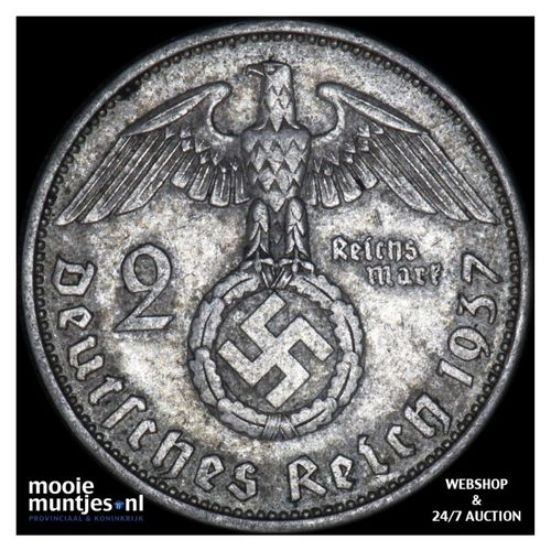 2 reichsmark - Germany-Third Reich 1937 A (KM 93) (kant A)