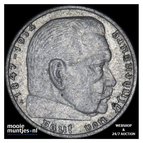 2 reichsmark - Germany-Third Reich 1937 A (KM 93) (kant B)