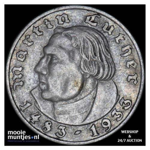 2 reichsmark - Germany-Third Reich 1933 A (KM 79) (kant A)