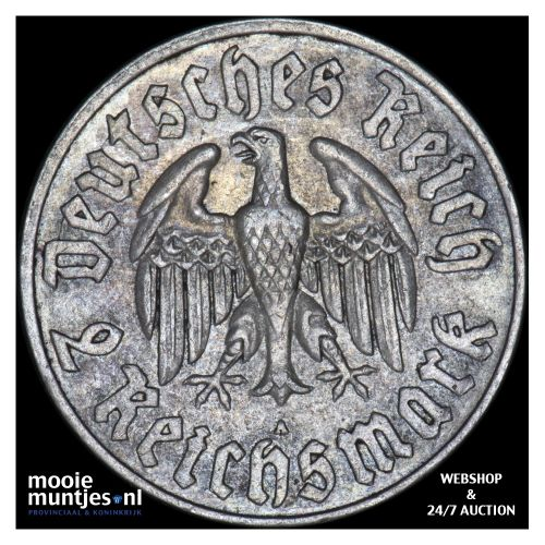 2 reichsmark - Germany-Third Reich 1933 A (KM 79) (kant B)