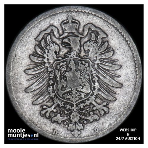 mark - Germany 1874 D (KM 14) (kant B)
