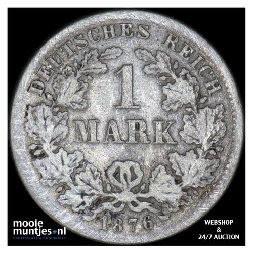 mark - Germany 1876 F (KM 14) (kant A)