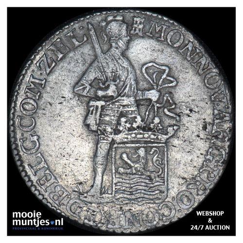 Zeeland - Zilveren dukaat - 1798 over 96 (kant B)