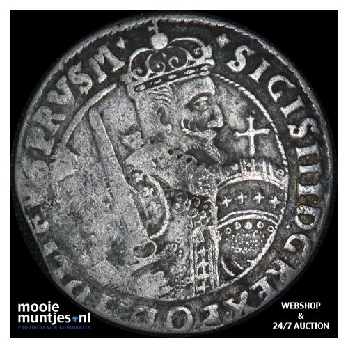 ort (18 groszy - 1/4 thaler) - Poland 1622 (KM 37) (kant B)
