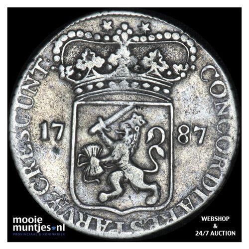 Zeeland - Zilveren dukaat - 1787 (kant A)