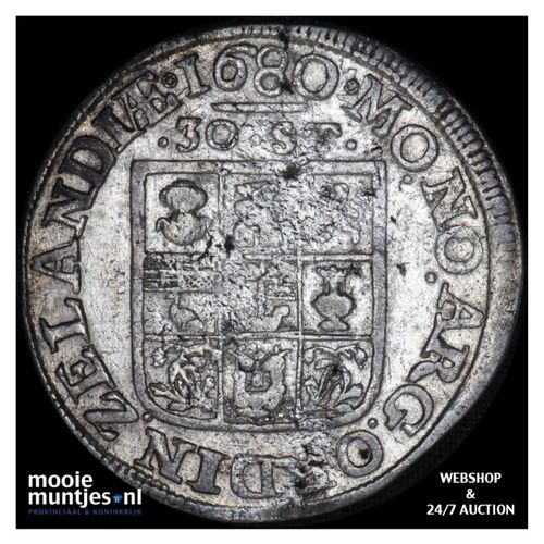 Zeeland - Daalder van 30 stuiver - 1680 (kant A)