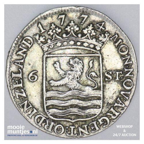 Zeeland - Scheepjesschelling - 1774 (kant A)