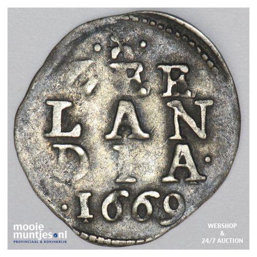 Zeeland - Dubbele stuiver - 1669 (kant A)