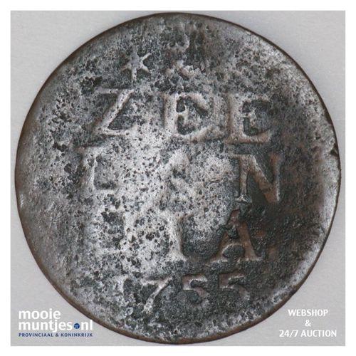 Zeeland - Duit - 1755 (kant A)