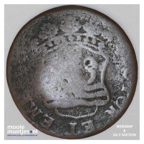 Zeeland - Duit - 1755 (kant B)
