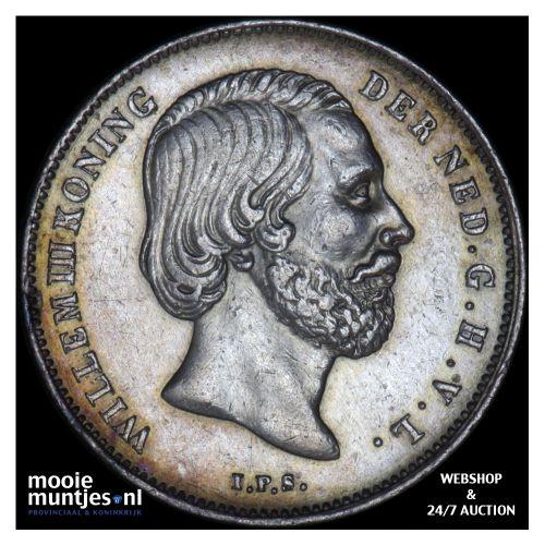 ½ gulden - Willem III - 1866 (kant B)