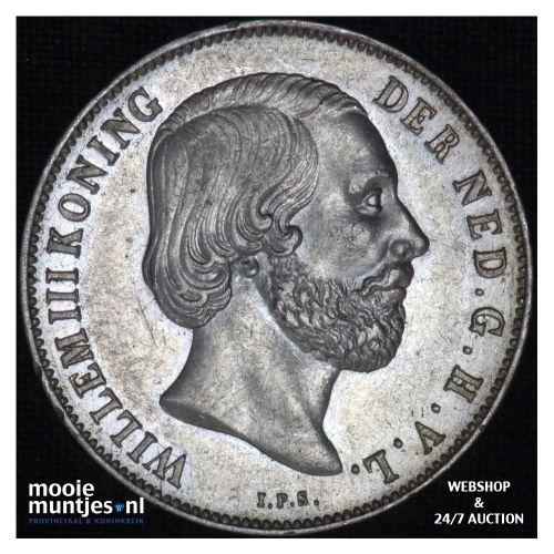 1 gulden - Willem III - 1861 (kant B)