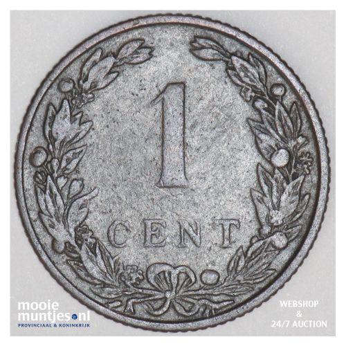 1 cent - Wilhelmina - 1907 (kant B)