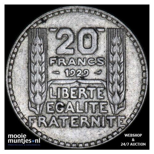 20 francs - France 1929 (KM 879) (kant A)