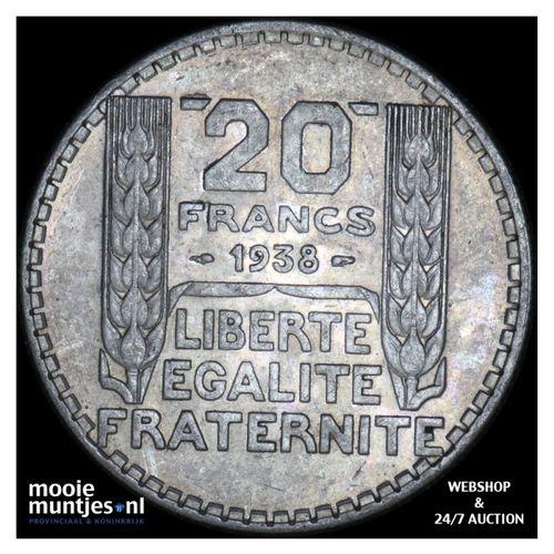 20 francs - France 1938 (KM 879) (kant A)