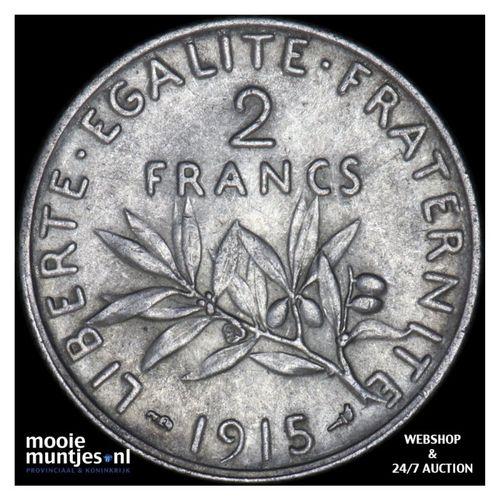 2 francs - France 1915 (KM 845.1) (kant A)