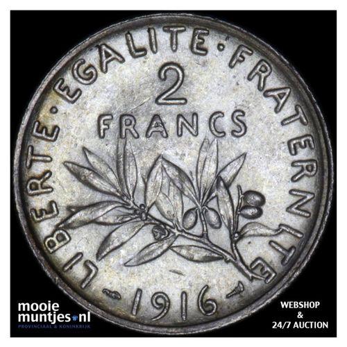 2 francs - France 1916 (KM 845.1) (kant A)