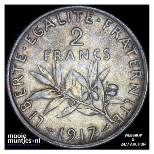 2 francs - France 1917 (KM 845.1) (kant A)