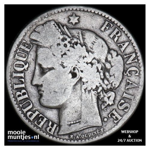 2 francs - France 1871 A (Paris) (KM 817.1) (kant B)