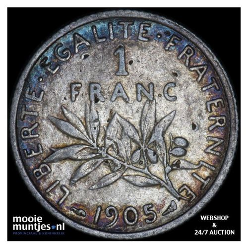 franc - France 1905 (KM 844.1) (kant A)
