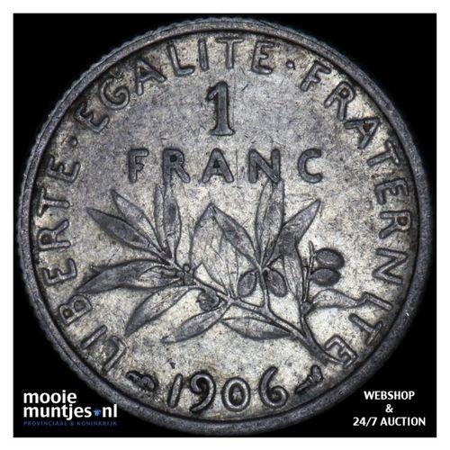 franc - France 1906 (KM 844.1) (kant A)