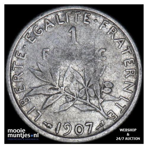 franc - France 1907 (KM 844.1) (kant A)