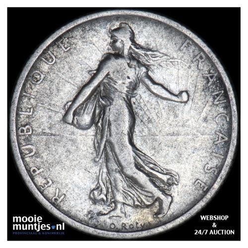 franc - France 1907 (KM 844.1) (kant B)
