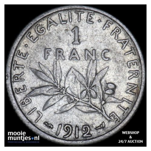 franc - France 1912 (KM 844.1) (kant A)