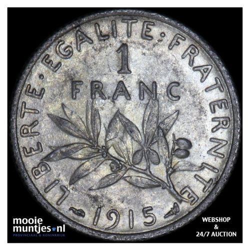franc - France 1915 (KM 844.1) (kant A)