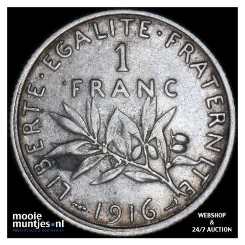 franc - France 1916 (KM 844.1) (kant A)