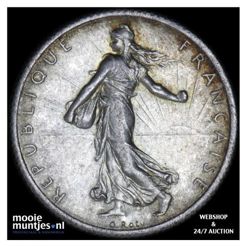 franc - France 1916 (KM 844.1) (kant B)