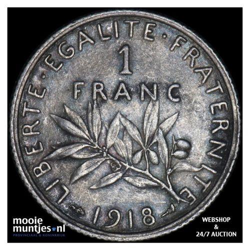 franc - France 1918 (KM 844.1) (kant A)